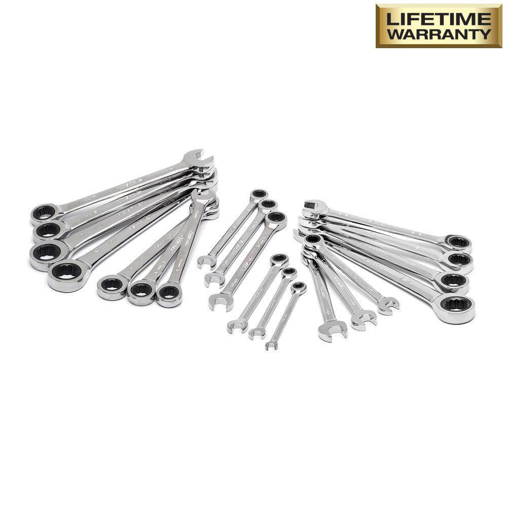 Husky SAE/Metric Combination Ratcheting Wrench Set (20-Piece) in store $50