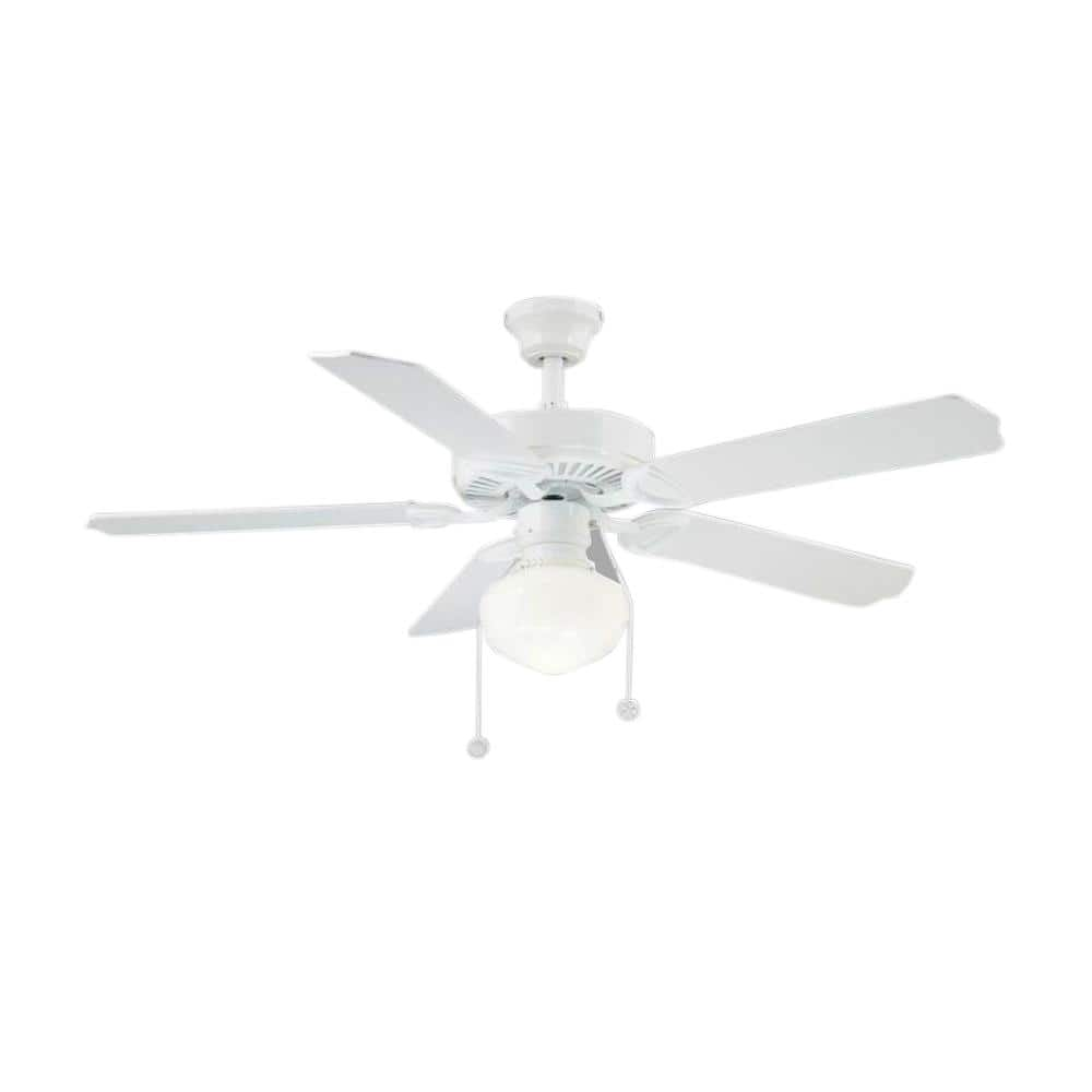 Home Depot  Trimount 52 in. Indoor White Ceiling Fan with Light Kit $40 & more Free Shipping 6-10-18 only