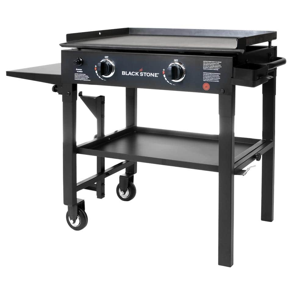 """Home Depot  Blackstone 28 in. 2-Burner Propane Gas Grill in Black with Griddle Top $124, 36"""" stainless griddle $274, electric bullet smoker $74 Free Shipping 6-26-18 only"""