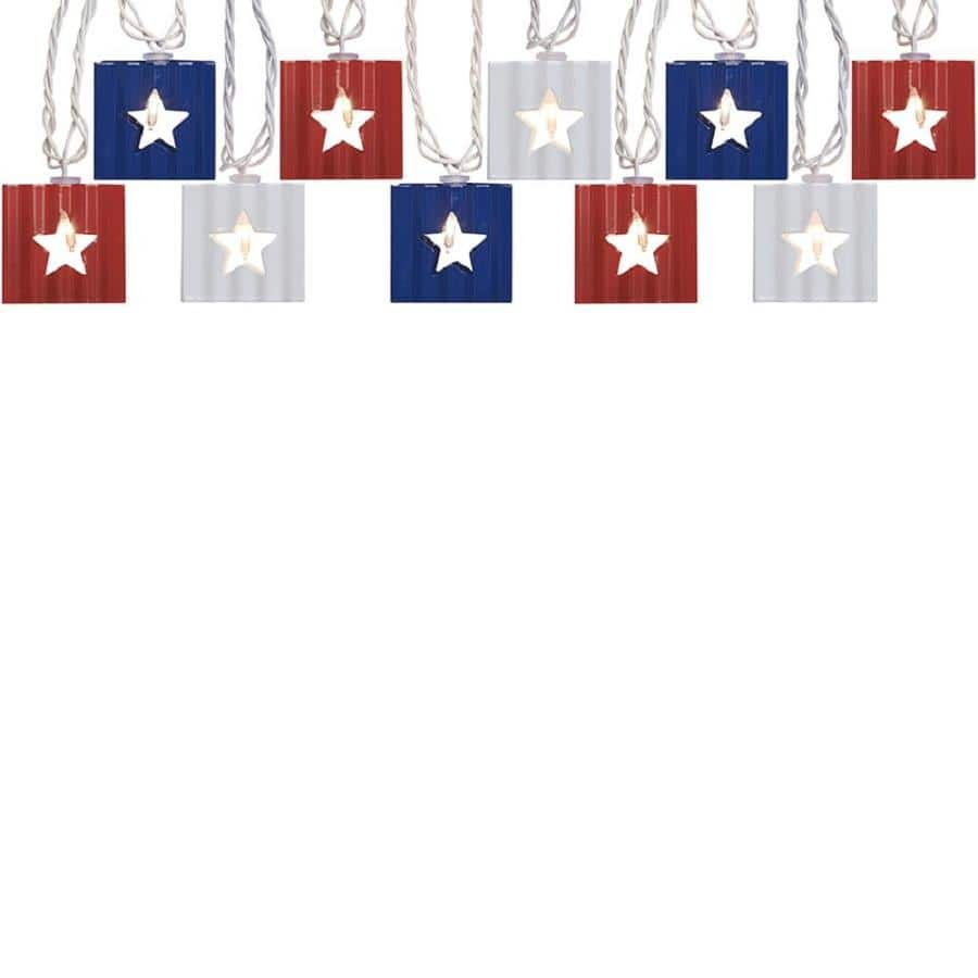 Lowes allen + roth Red White Blue Star String Light $15 free store pick up & more 6-29-18 only
