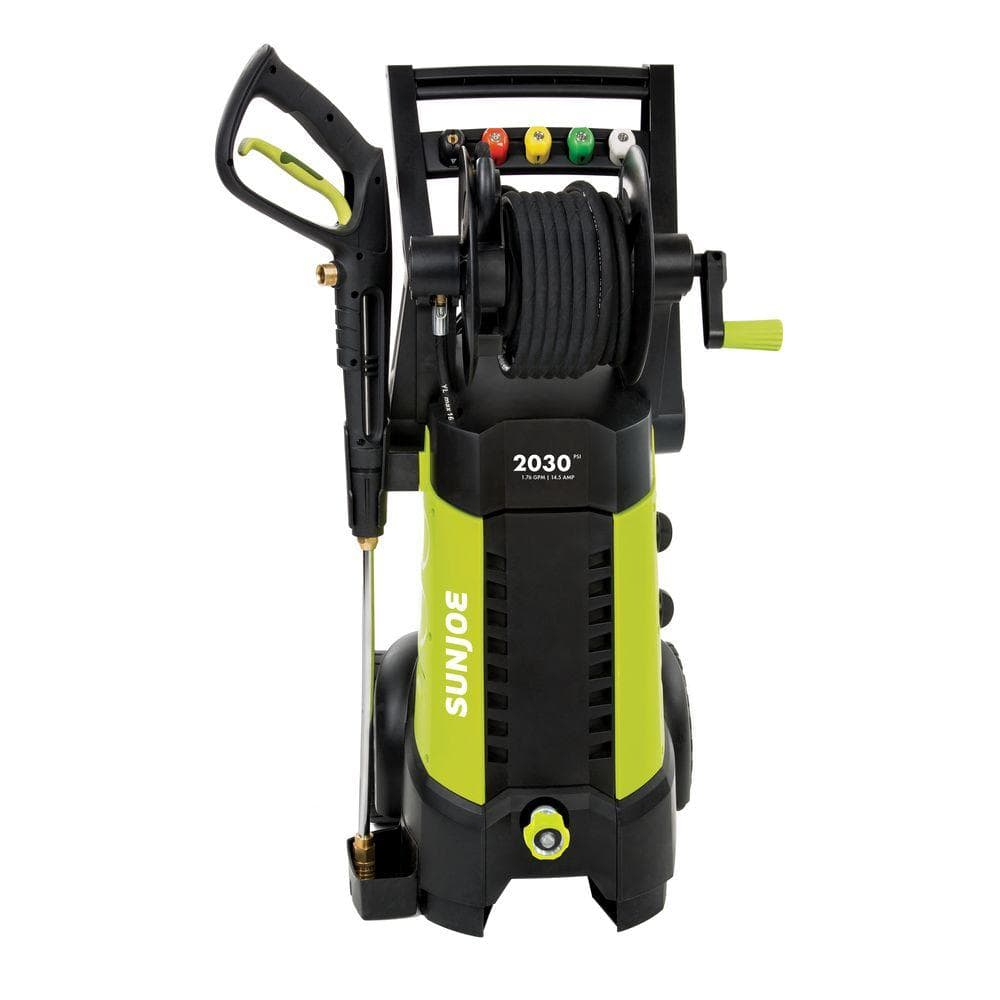 Home Depot  Sun Joe Pressure Joe 2,030 psi 1.76-GPM 14.5 Amp Electric Pressure Washer with Hose Reel $139 ,pole saw $60 & more Free Shipping 8-12-18 only