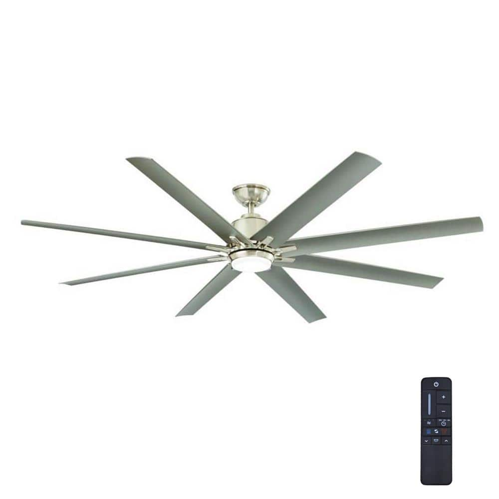 Home Depot  Home Decorators Collection Kensgrove 72 in. Integrated LED Indoor/Outdoor Brushed Nickel Ceiling Fan with Light Kit and Remote Control $216 & more Free Shipping 10-1-18