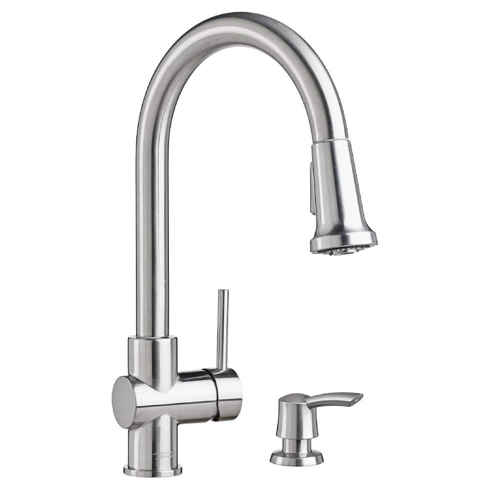 Home Depot  American Standard Montvale Single-Handle Pull-Down Sprayer Kitchen Faucet with Soap Dispenser in Stainless  $99, Tofino Toilet $239 & more Free Shipping 10-9-18 only