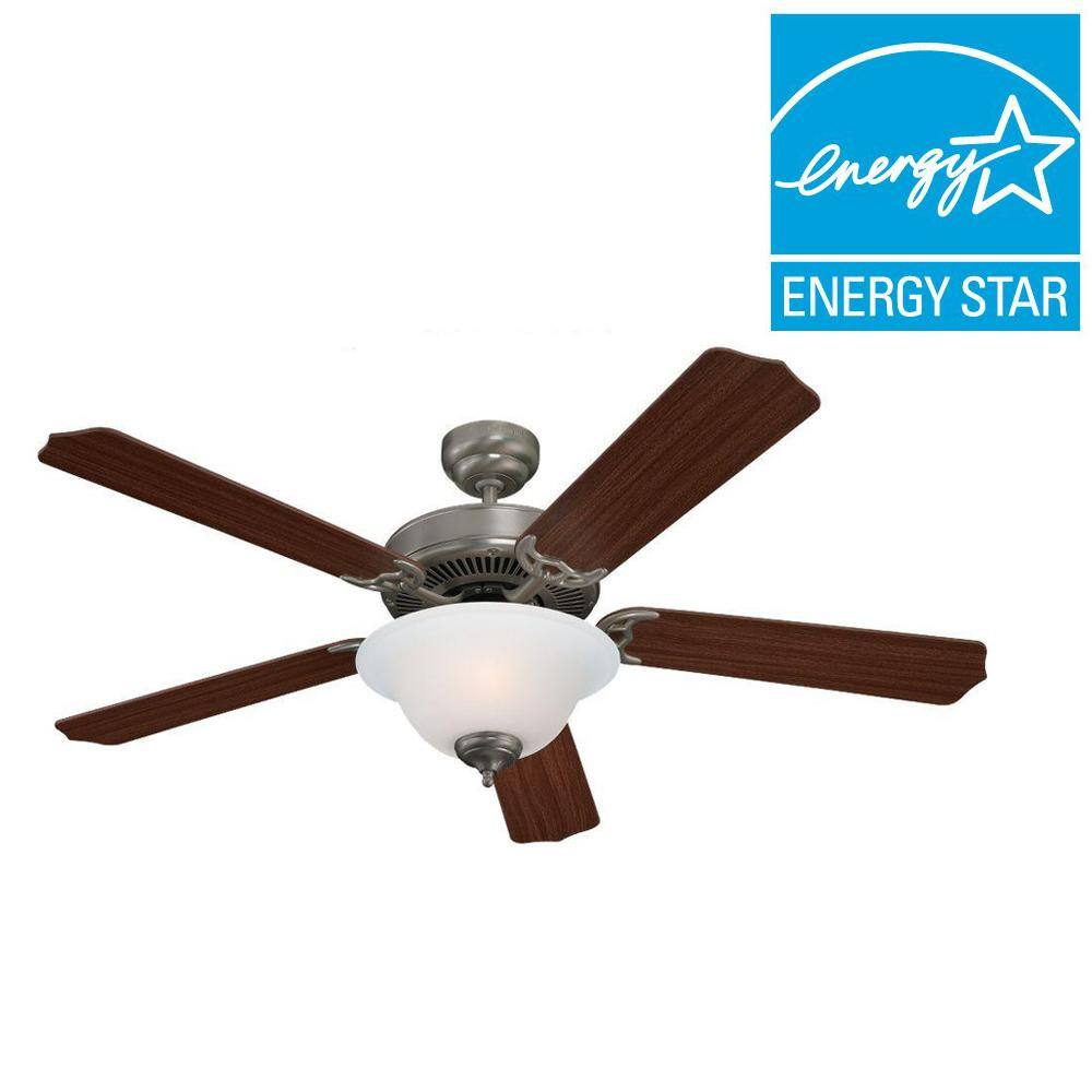 Home Depot Sea Gull Lighting Quality Max Plus 52 in. Brushed Nickel Indoor Ceiling Fan $45, 60w b11 bulbs 12 PK $11, & more Free Shipping 10-12-18 only $44.5