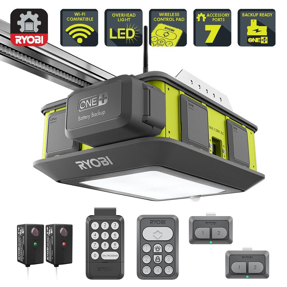 Ryobi Ultra Quiet 2 Hp Belt Drive Garage Door Opener