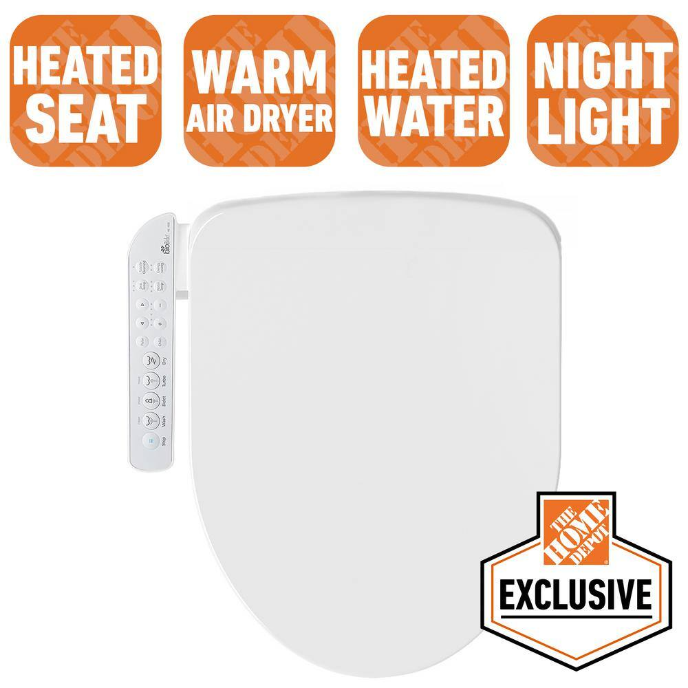 Home Depot  bioBidet Electric Bidet Seat for Elongated Toilets in White with Fusion Heating Technology $199, 50 cfm ceiling bath fan $12, & more Free Shipping 8-3-19 only