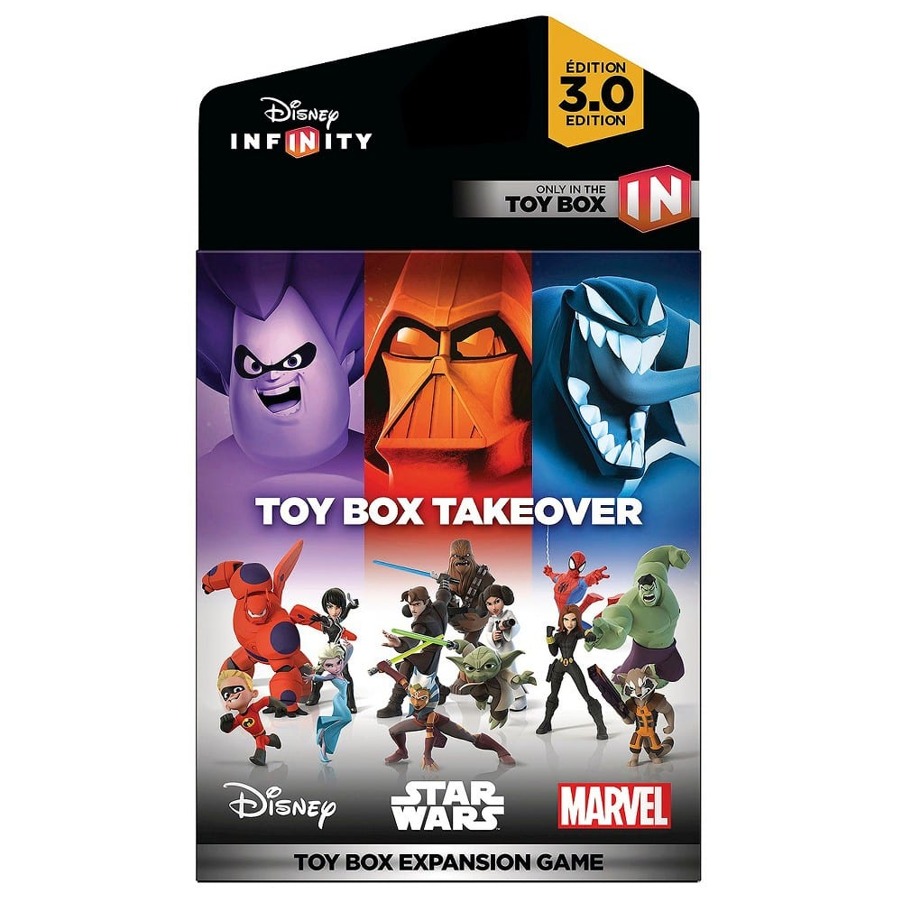 Disney Infinity Toy Box Takeover and Toy Box Speedway sets on sale $9.99 BB / $10.50 TRU
