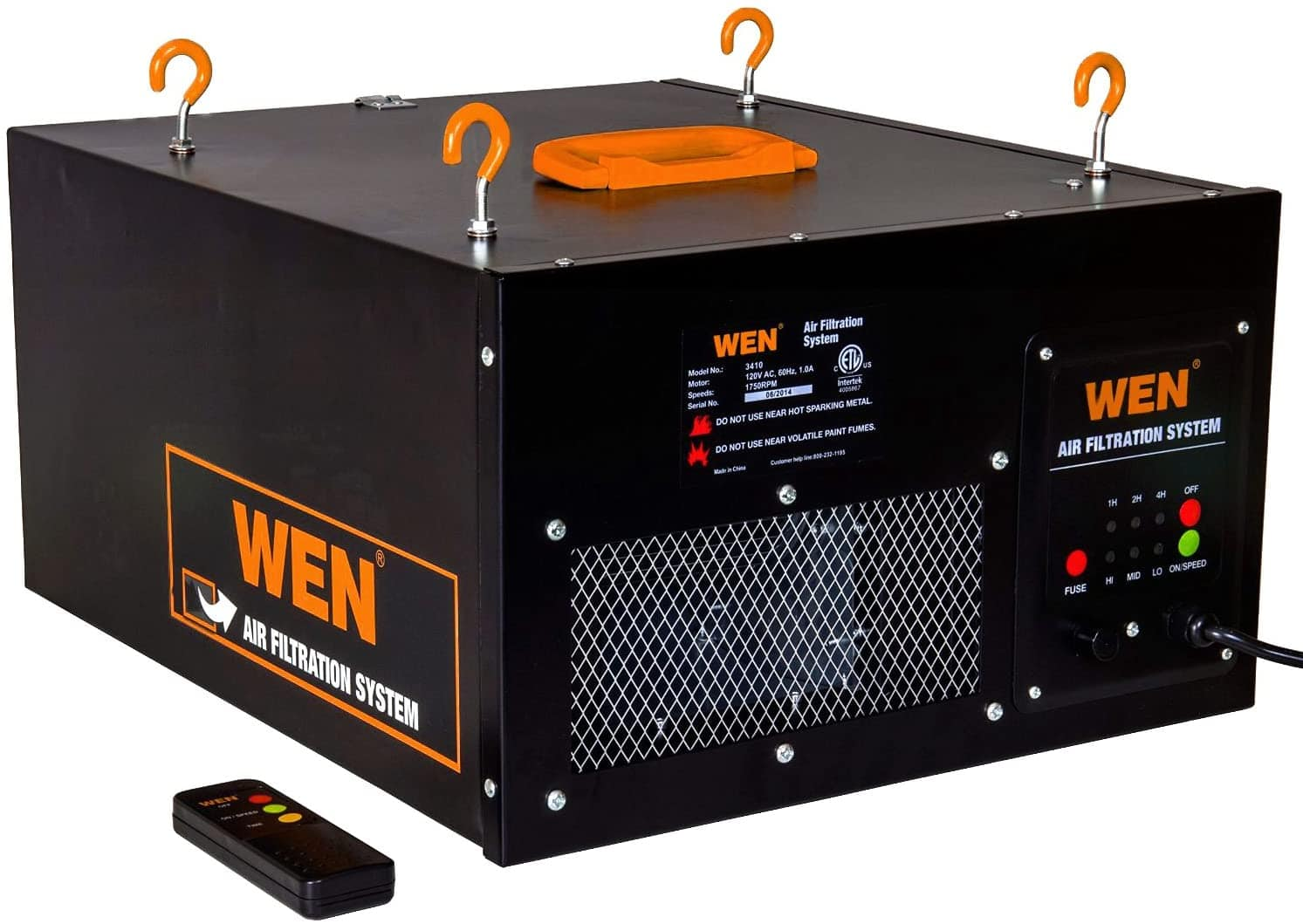WEN 3410 3-Speed Remote-Controlled Air Filtration System (300/350/400 CFM) - - Amazon.com $132.61