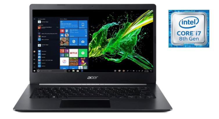 "Acer Aspire 5, 14"" Full HD, 8th Gen Intel Core i7-8565U, 8GB DDR4, 512GB PCIe NVMe SSD, Windows 10 Home, A514-52-78MD Free shipping $519"