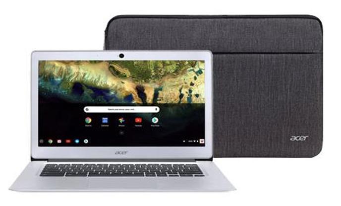 "Acer Chromebook 14, Intel Atom x5-E8000 Quad-Core Processor, 14"" HD, 4GB LPDDR3, 32GB eMMC, Protective Sleeve, CB3-431-12K1 Free Shipping $149"