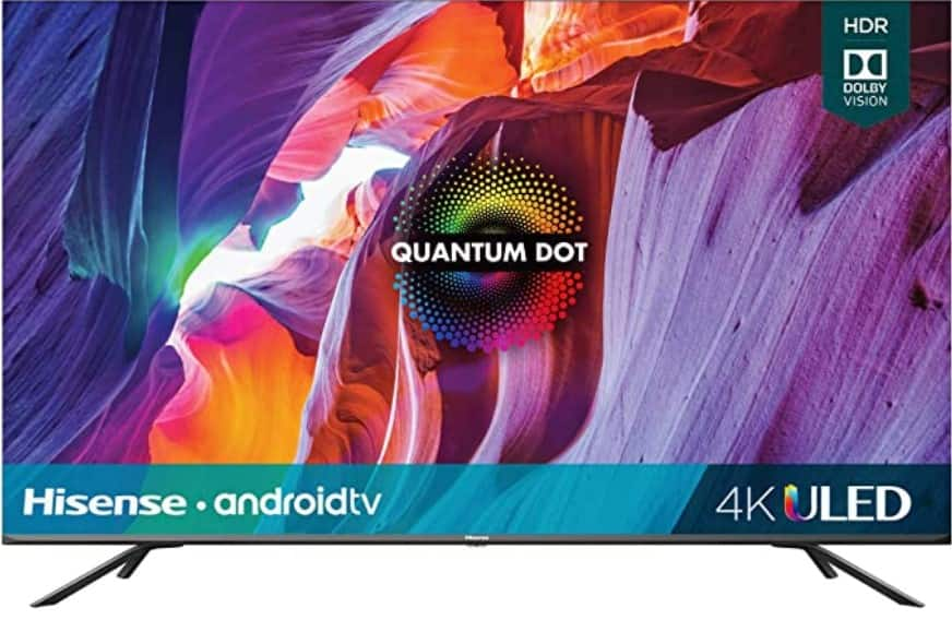 Hisense 50-Inch Class H8 Quantum Series Android 4K ULED Smart TV with Voice Remote (50H8G, 2020 Model) $349.99