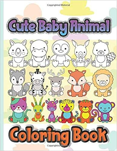 Cute Baby Animals Coloring Book: Learn to color and scribble on big drawings Paperback $3.95