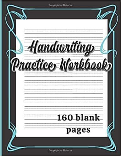 Handwriting Practice Workbook: Dotted Lined Writing Paper Paperback $5.33