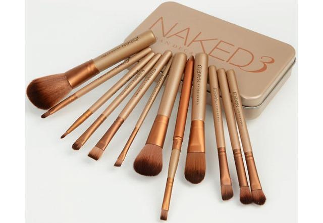 Naked 3 12-Piece Top Grade Professional Cosmetic Makeup Brush Set $9.49 + 3.99 Shipping