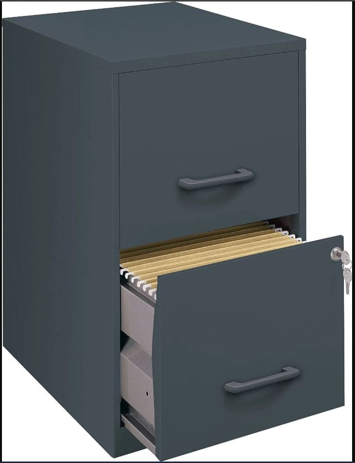 2 Drawer Vertical File Cabinet and 6-Pack Hanging Folders $46.18 or less AC + Free Shipping @ Staples.com