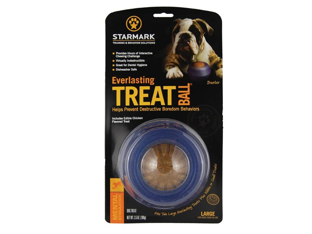 Starmark Everlasting Treat Ball Dog Toy Chicken Flavor $14.99 + Free Shipping Amazon
