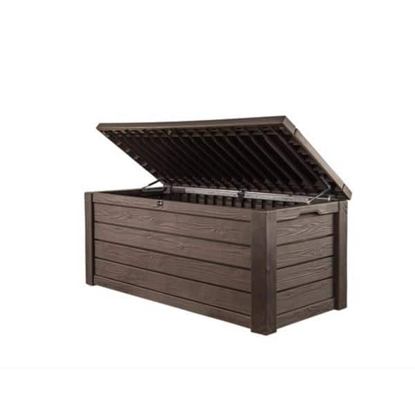 Keter Eastwood 150 Gallon Resin Outdoor Storage Deck Box Brown Wood Look $154.00 + Free Ship to HomeDepot Store Pick-up
