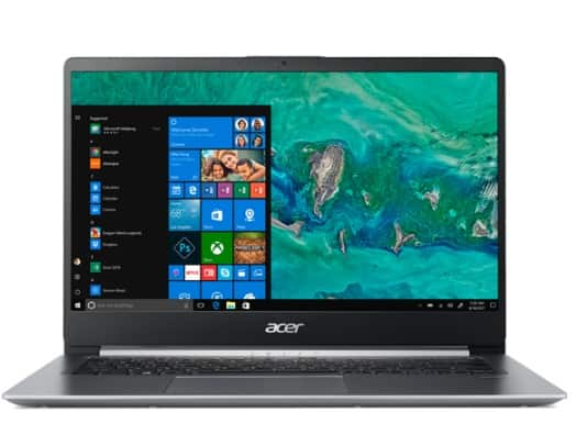 "Acer Swift 1, 14"" Full HD Notebook, Intel Pentium Silver N5000, 4GB, 64GB SSD, Windows 10 Home in S mode, Office 365 Personal 1-Year, SF114-32-P2PK $278.99"