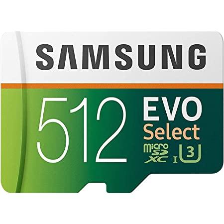 SAMSUNG EVO Select 512GB microSDXC UHS-I U3 100MB/s Full HD & 4K UHD Memory Card with Adapter (MB-ME512HA) $69.99
