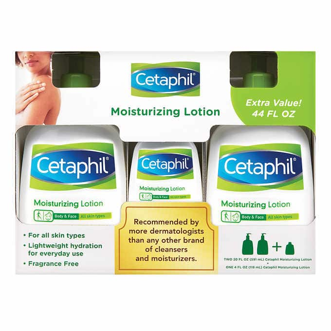 Cetaphil Moisturizing Lotion 3-Pack (2x 20oz, 1x 4oz) $15 + Shipping - Costco