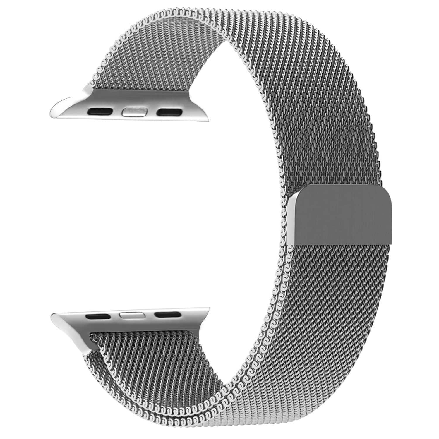 Stainless Steel Magnetic Apple Watch Bands 38/42mm black/silver $5.99+ @Amazon FS w/prime