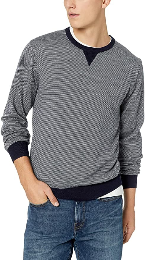 Amazon Brand - Goodthreads Men's Lightweight Merino Wool Crewneck Sweater $7.82