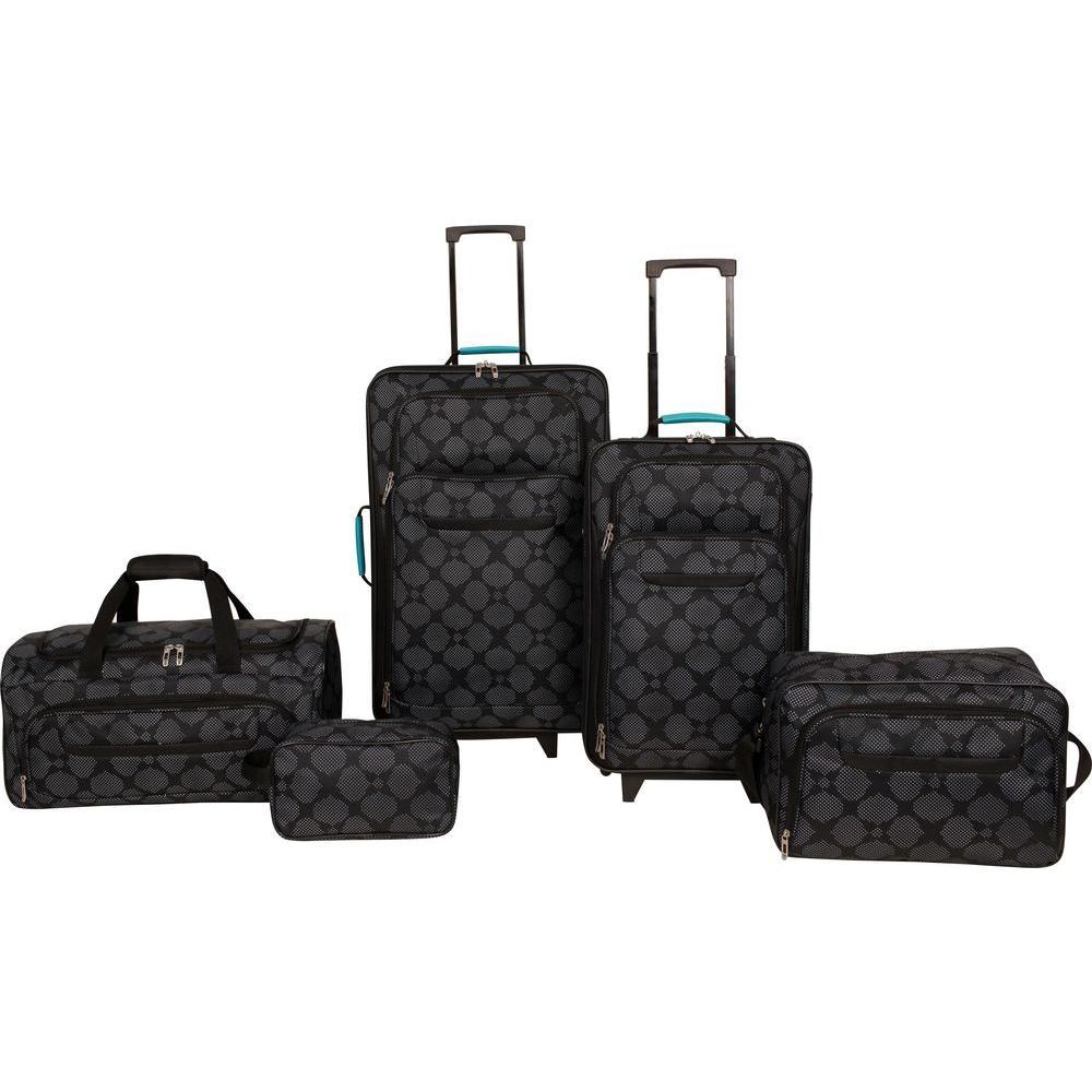 Protege 5-Piece Luggage Set (Black) $12.50 at Home Depot