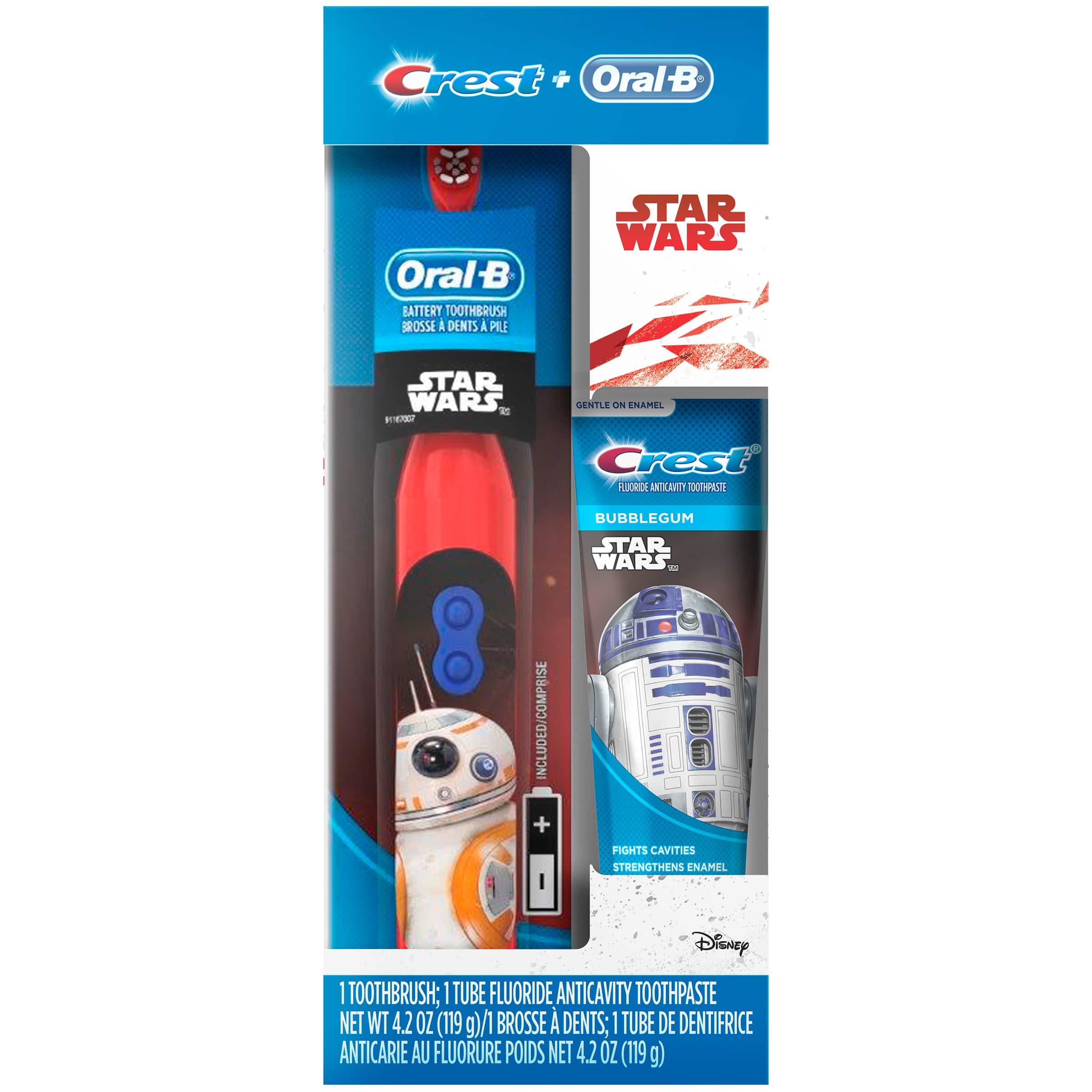 Oral-B and Crest Kid's Holiday Pack Featuring Disney's STAR WARS (Toothbrush & Toothpaste) $2.98 Walmart Free Store Pickup