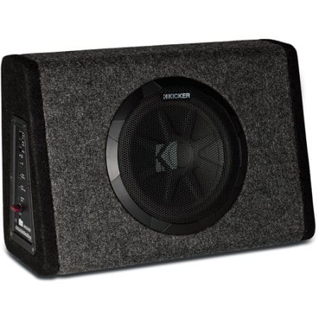 "Kicker PT250 10"" Subwoofer with Built-In 100W Amplifier $123.08 Walmart"