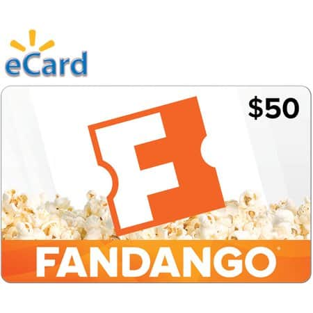 Walmart eGift cards - Fandango $50 Gift Card - $45.00, $25 - $22.50, Regal Movie $25 Gift Card - $22.50, Domino's Pizza $20 Gift Card - $18.00, Domino's $50 Gift Card - $45.00