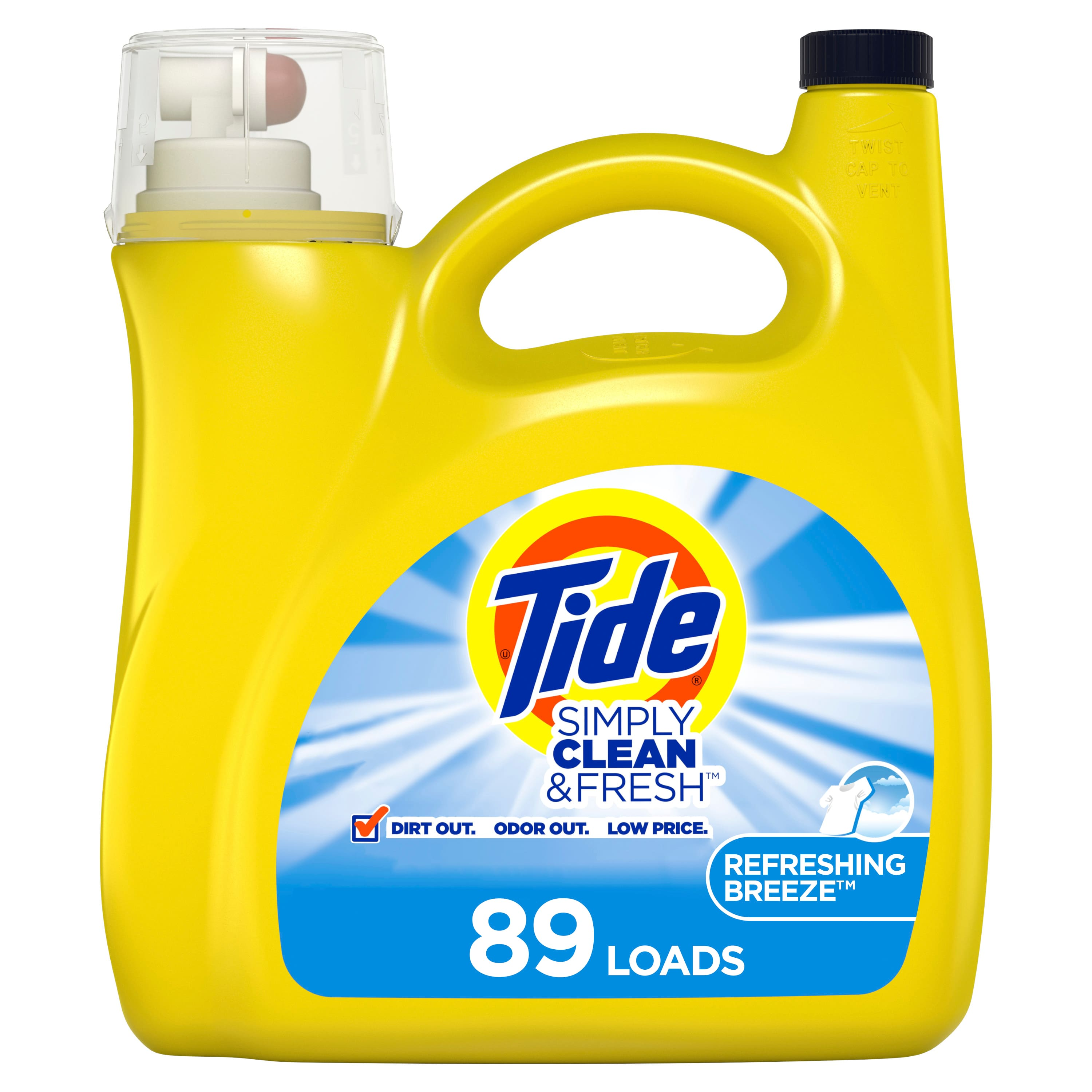 Tide Simply Clean and Fresh 138 oz. Refreshing Breeze Liquid Laundry Detergent - $4.80 B&M YMMV Home Depot