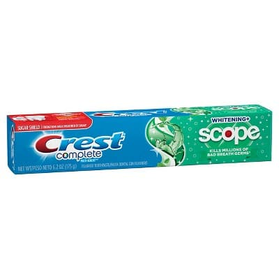 3 x 6.2oz Crest Complete Multi-Benefit Whitening + Scope Toothpaste for $2.54