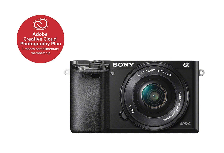 Amazon Warehouse Sony Alpha a6000 Mirrorless Digital Camera 24.3MP SLR Camera with 3.0-Inch LCD (Black) w/16-50mm Power Zoom Lens $366