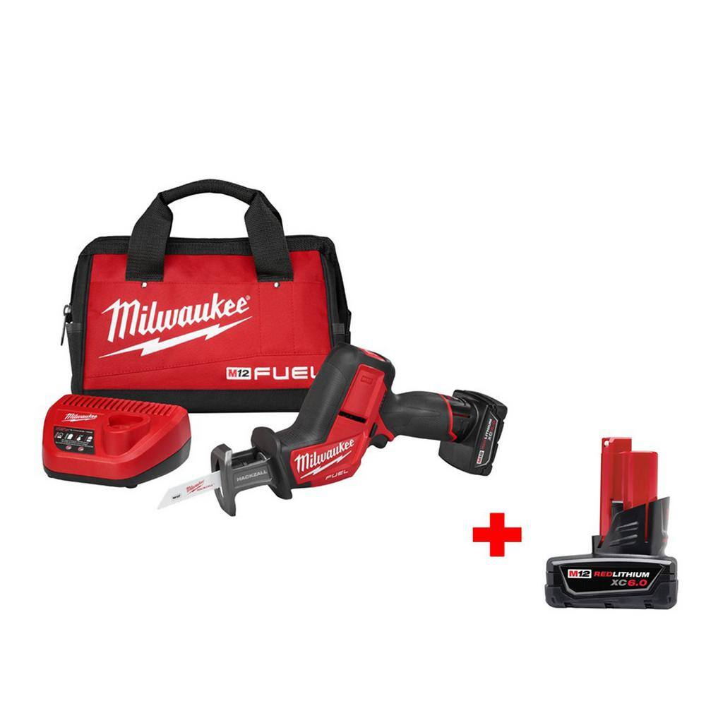 M12 FUEL 12-Volt Lithium-Ion Brushless Cordless HACKZALL Reciprocating Saw Kit W/ Free 6.0Ah Battery 149