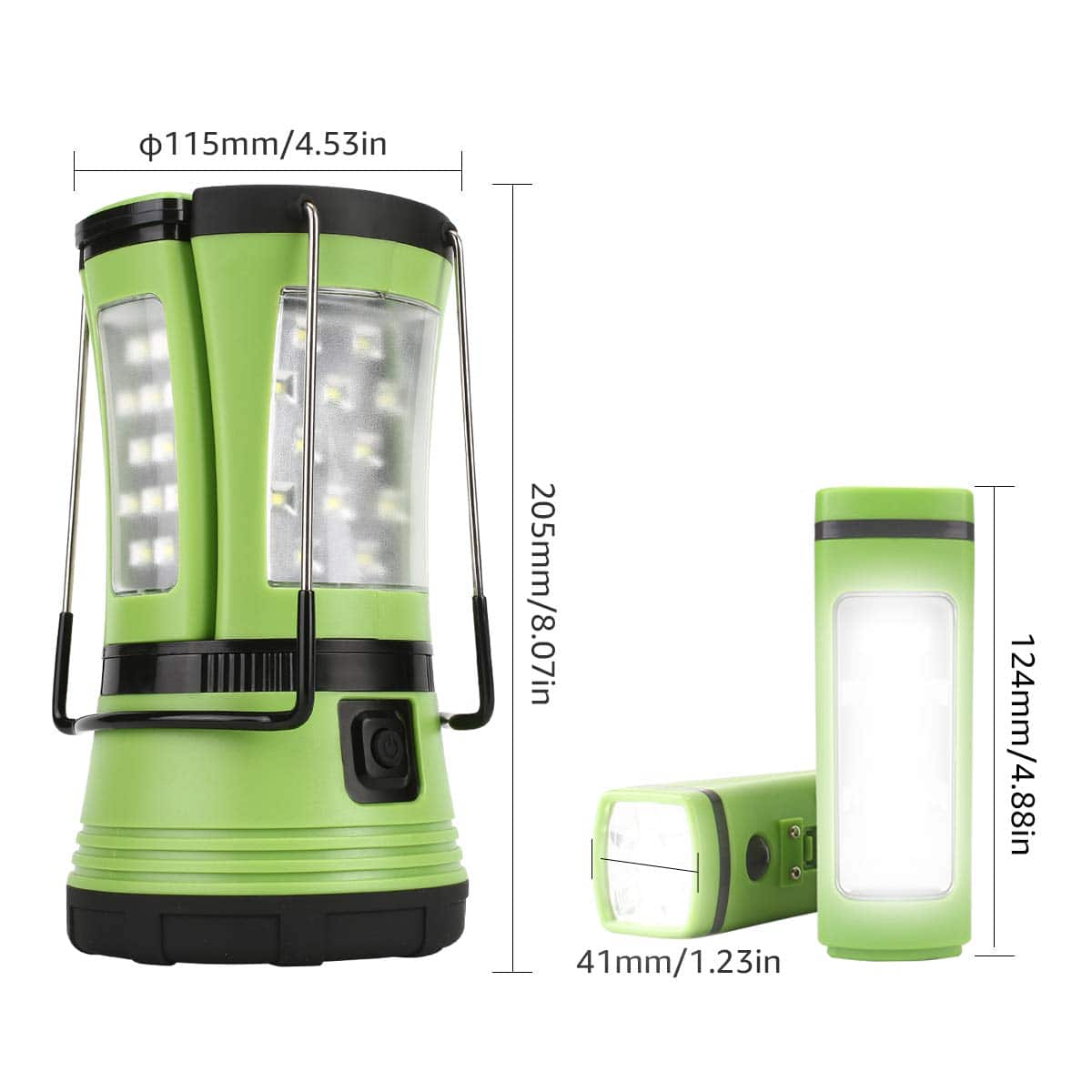 600LM LE LED Camping Lantern Rechargeable - w/ 2 built in flashlights $20.29