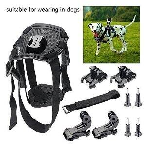BAXIA TECHNOLOGY Dog Harness Chest Mount for GoPro HERO 4 Black GoPro HERO 4 Silver GoPro HERO 3+,3,2 and SJ4000 SJ5000 SJ6000 Sports Camera Accessories Kit