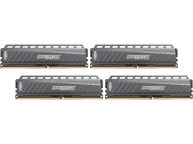 Ballistix Tactical 16GB Kit (4GB x 4) DDR4 3000 MT/s (PC4-24000) DIMM 288-Pin Memory - 146.26 @ Newegg + FS $146.26
