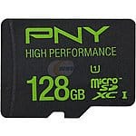 PNY High Performance 128GB microSDXC Flash Card (P-SDUX128U160G-GE) $57.99 or $58.98 AC Newegg