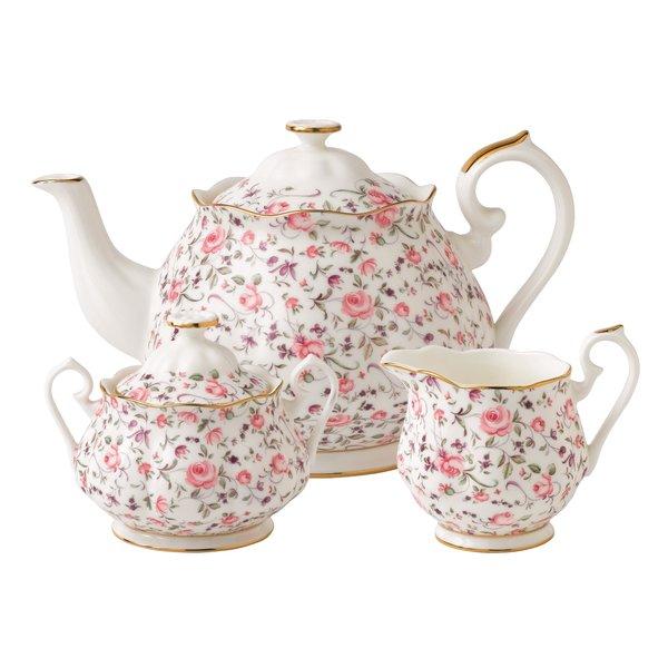 Royal Albert Rose Confetti 3 Piece Teapot Set $57.99