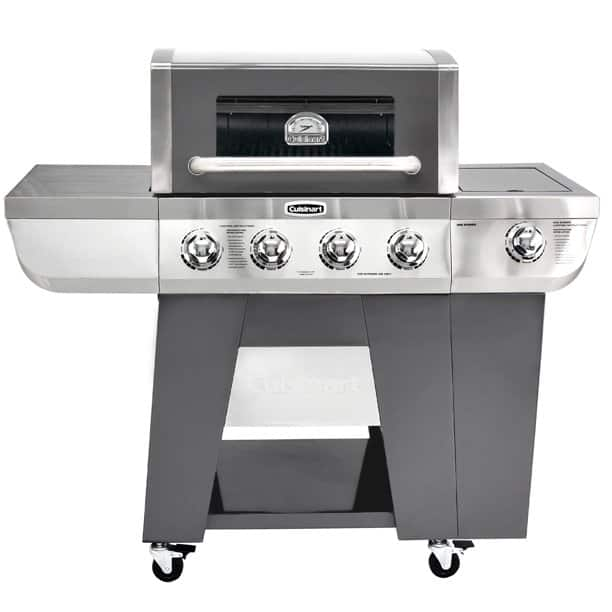 YMMV Cuisinart Deluxe Four-Burner Propane Gas Grill with Side Burner - $123.50 at Walmart