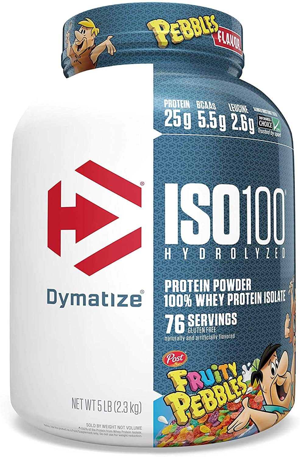 5# Dymatize ISO100 - whey protein ISOLATE - Fruity or Cocoa Pebbles - $40.04 Amazon S&S