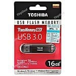 TOSHIBA TransMemory 16GB USB 3.0 Flash Drive $5.73 shipped