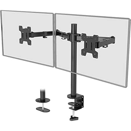 """Huanuo Dual Monitor Mount For 13"""" to 27"""" Computer Screens (VESA 75 & 100) $11.19"""