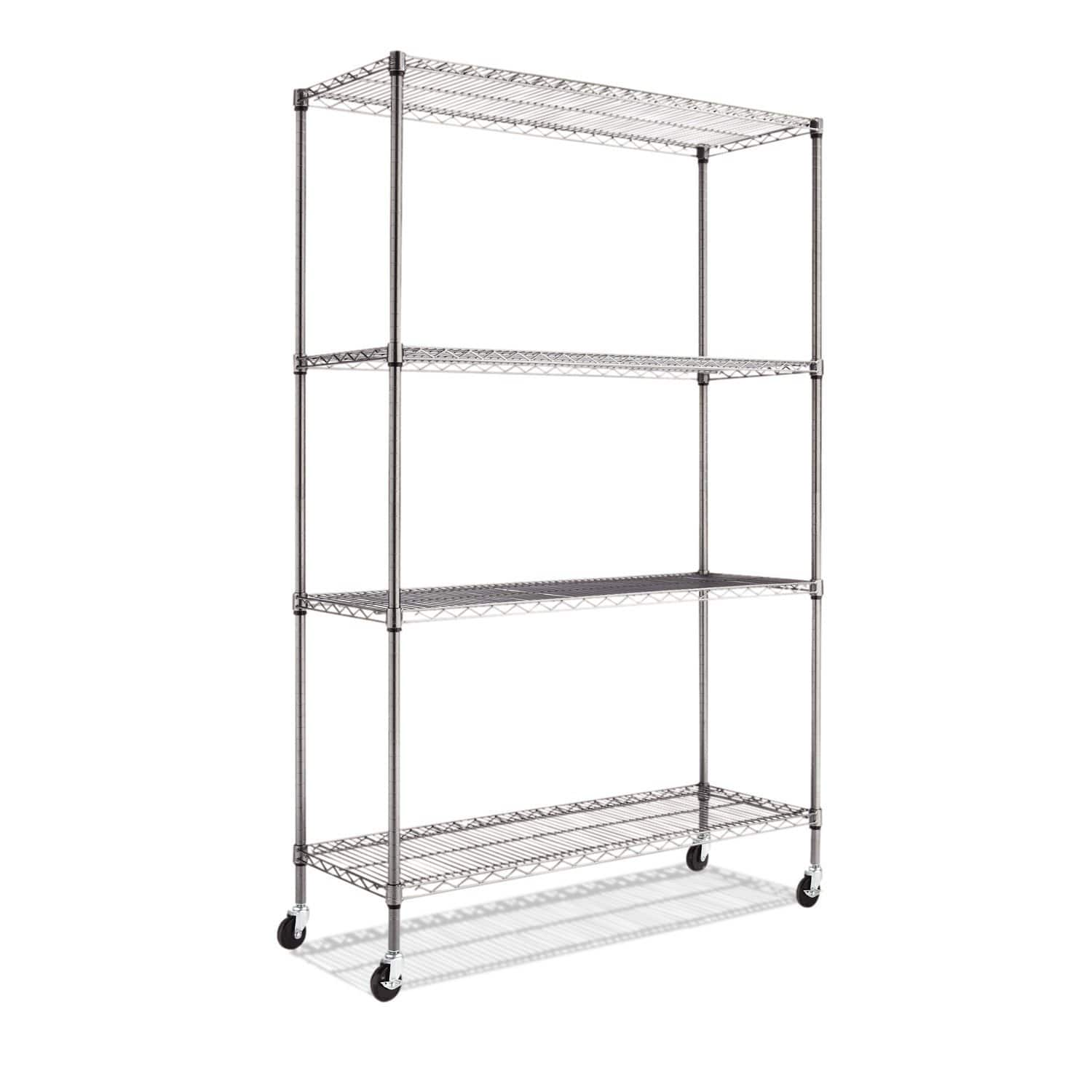 "COSTCO or AMAZON - Alera 4-Shelf Wire Shelving Rack, 48"" x 18"" 72"", NSF, Black Anthracite $79.99 shipped"