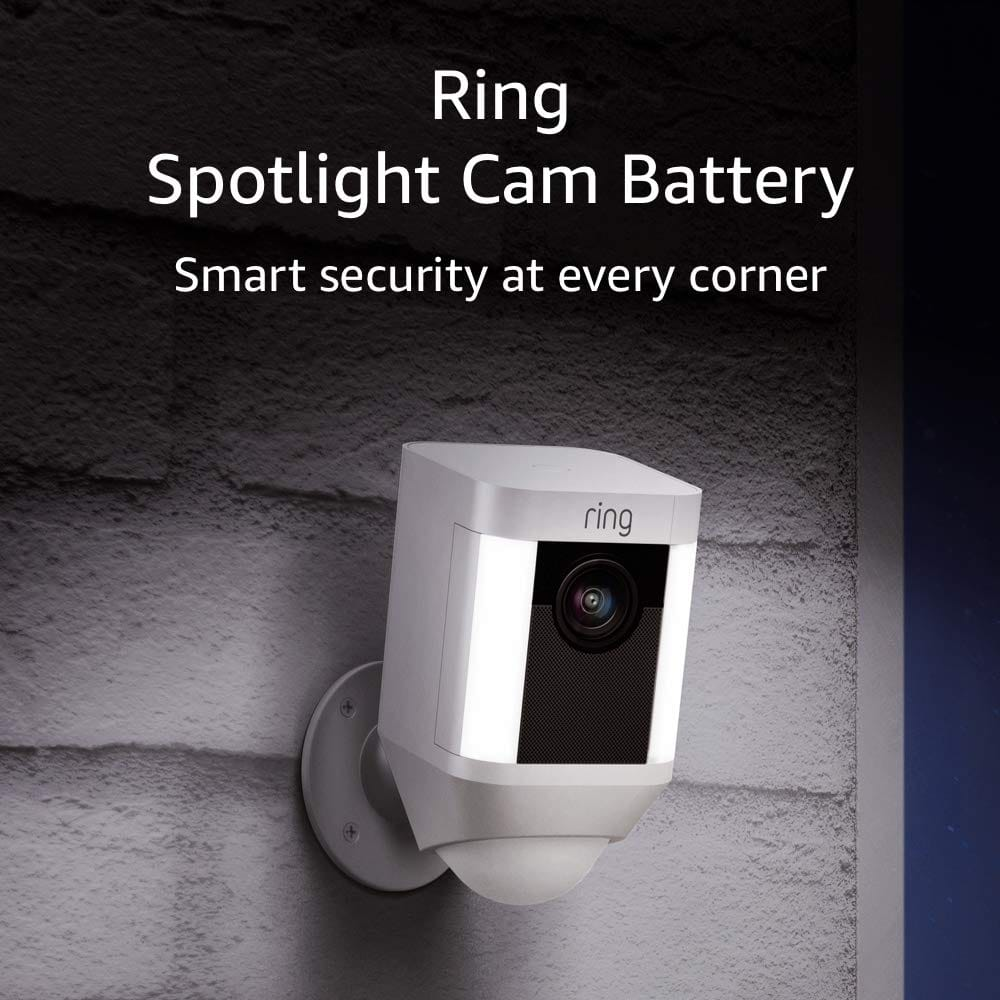 Ring Spotlight Cam Battery $149.99, add Echo Show 5 for $10 more