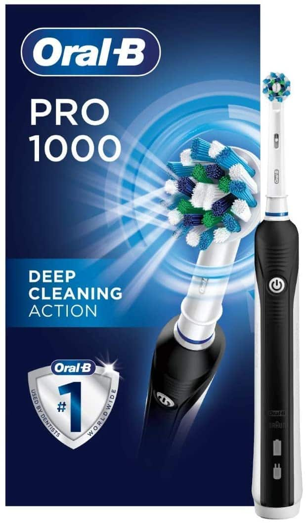 Oral-B 1000 CrossAction Electric Toothbrush $29.99 at Amazon