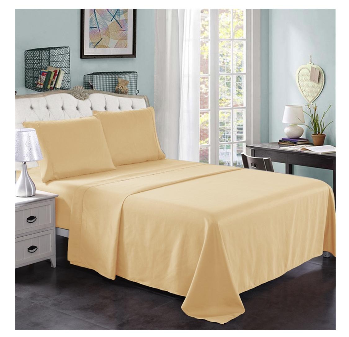 """Hotel Luxury Bedsheets 18"""" 4pc 2200 thread count Queen - $15.87"""