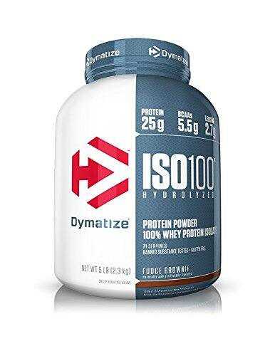 Dymatize ISO 100 Whey Protein Powder Isolate, Fudge Brownie, 5 lbs $40.17