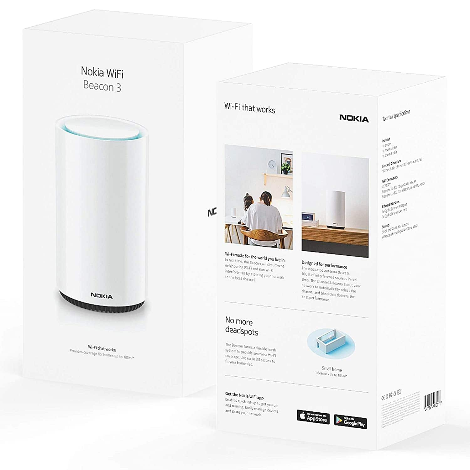 Nokia WiFi Beacon 3 Mesh Router System - $98.17 (After 23% Off Coupon)