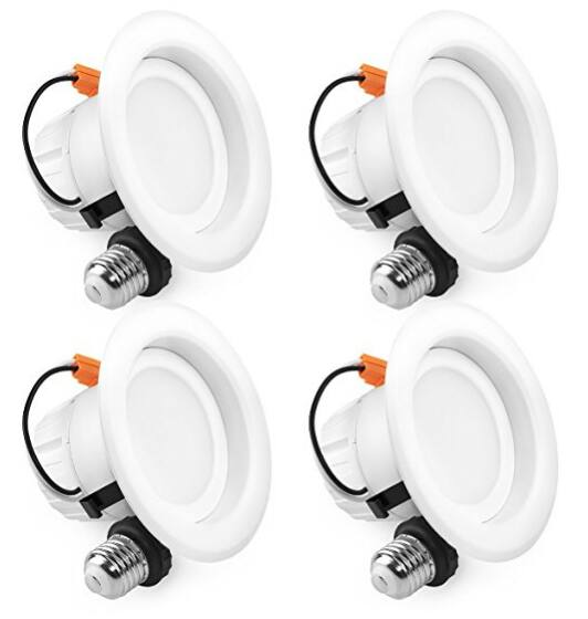 "SGL 4"" Dimmable LED Recessed Lighting 4 Pack $16 or 12 Pack $42 Amazon"